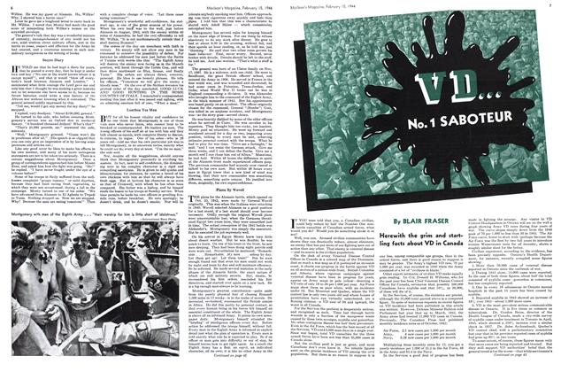 Article Preview: VD... No. 1 SABOTEUR, February 1944 | Maclean's