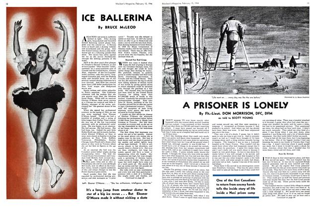 Article Preview: A PRISONER IS LONELY, February 1944 | Maclean's