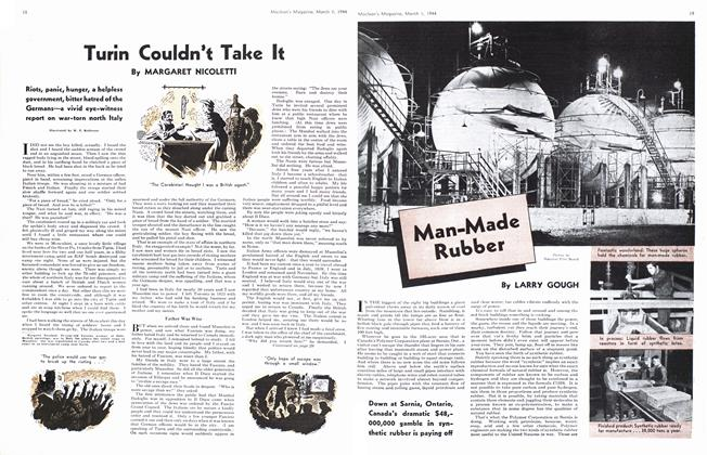 Article Preview: Man-Made Rubber, March 1944 | Maclean's