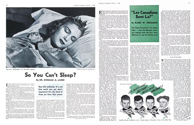 Article Preview: So You Can't Sleep?, March 1944 | Maclean's