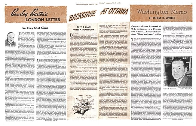 Article Preview: Washington Memo, March 1944 | Maclean's