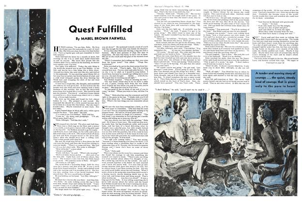 Article Preview: Quest Fulfilled, March 1944 | Maclean's