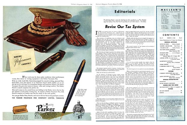 Article Preview: Revise Our Tax System, March 1944 | Maclean's