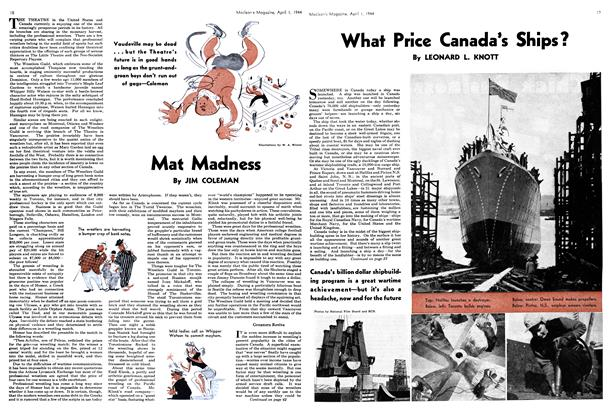 Article Preview: Mat Madness, April 1944 | Maclean's