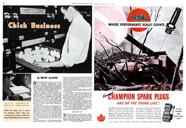 Article Preview: Chick Business, April 1944 | Maclean's