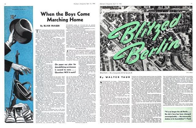 Article Preview: When the Boys Come Marching Home, April 1944 | Maclean's