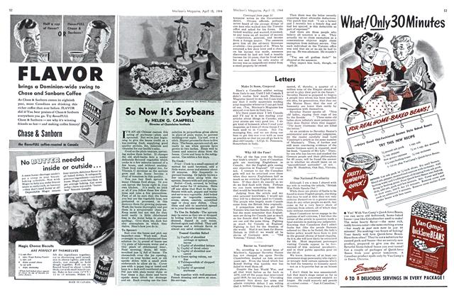 Article Preview: So Now It's Soybeans, April 1944 | Maclean's