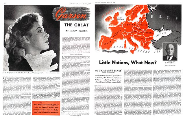 Article Preview: Little Nations, What Now?, April 1944 | Maclean's