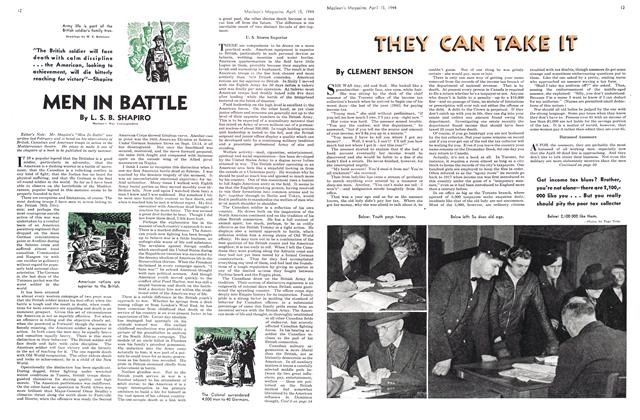 Article Preview: MEN IN BATTLE, April 1944 | Maclean's