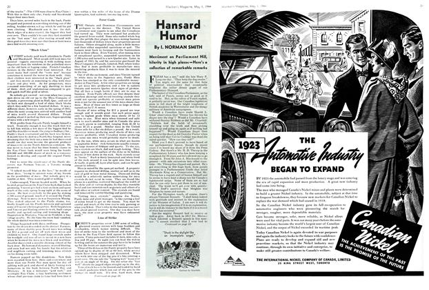 Article Preview: Hansard Humor, May 1944 | Maclean's