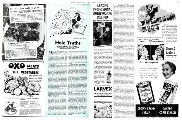 Article Preview: Hole Truths, May 1944 | Maclean's