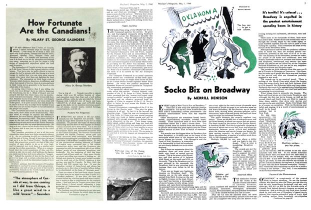 Article Preview: Socko Biz on Broadway, May 1944 | Maclean's