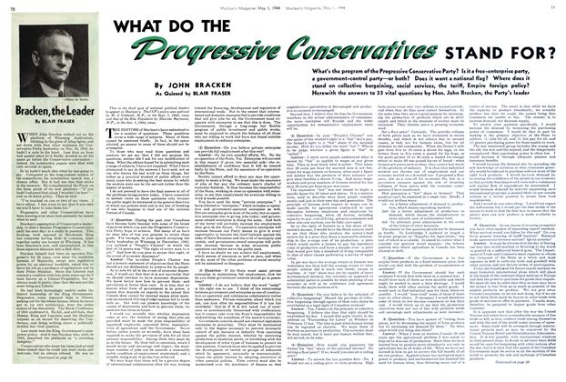 Article Preview: WHAT DO THE Proqressive Conservation STAND FOR?, May 1944 | Maclean's