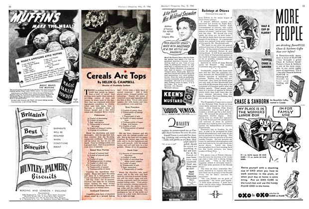 Article Preview: Cereals Are Tops, May 1944 | Maclean's
