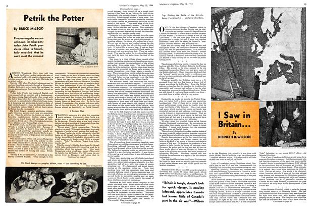 Article Preview: Petrik the Potter, May 1944 | Maclean's