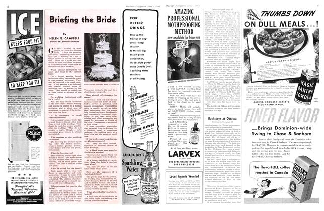 Article Preview: Briefing the Bride, June 1944 | Maclean's