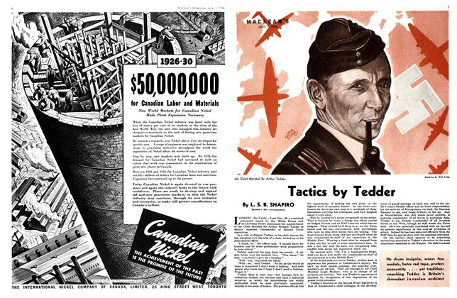 Article Preview: Tactics by Tedder, June 1944 | Maclean's