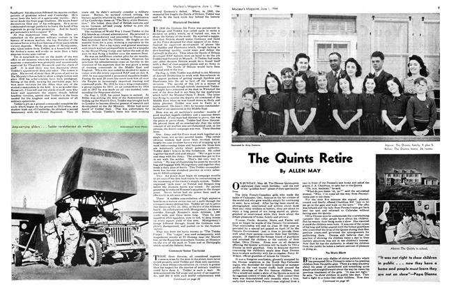 Article Preview: The Quints Retire, June 1944 | Maclean's