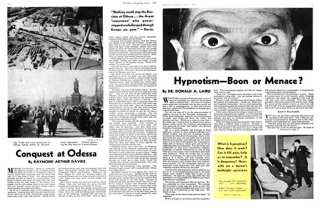 Article Preview: Hypnotism—Boon or Menace?, June 1944 | Maclean's