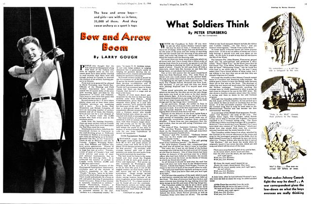Article Preview: What Soldiers Think, June 1944 | Maclean's