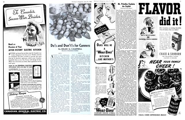 Article Preview: Do's and Don't's for Canners, June 1944 | Maclean's
