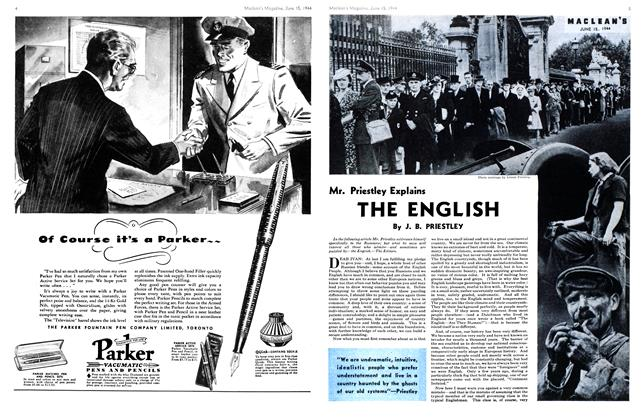 Article Preview: Mr. Priestley Explains THE ENGLISH, June 1944 | Maclean's