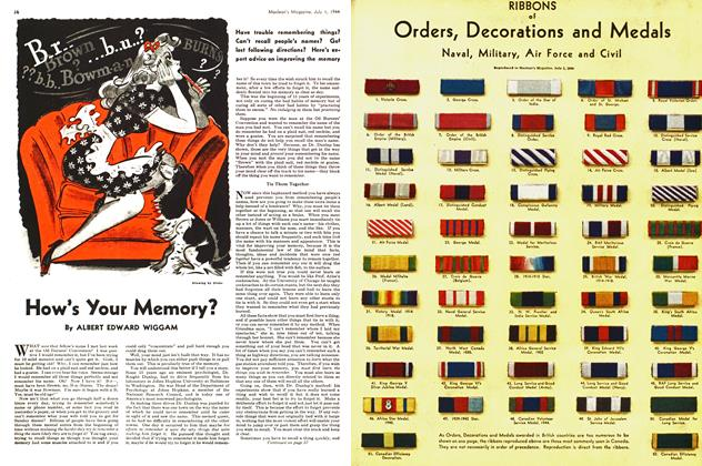 Article Preview: How's Your Memory?, July 1944 | Maclean's