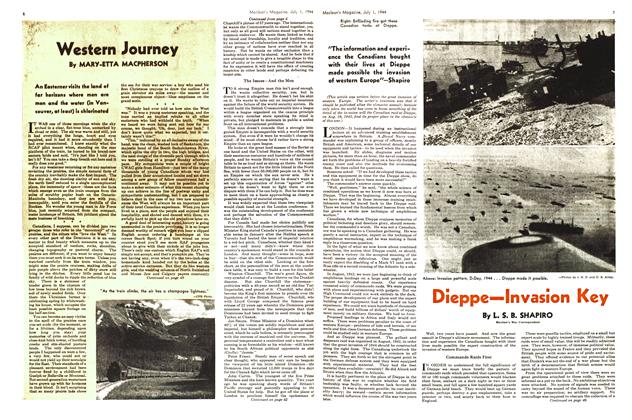 Article Preview: Dieppe—Invasion Key, July 1944   Maclean's
