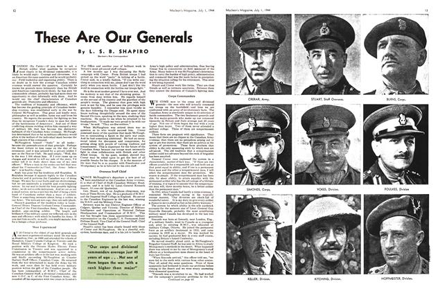Article Preview: These Are Our Generals, July 1944 | Maclean's