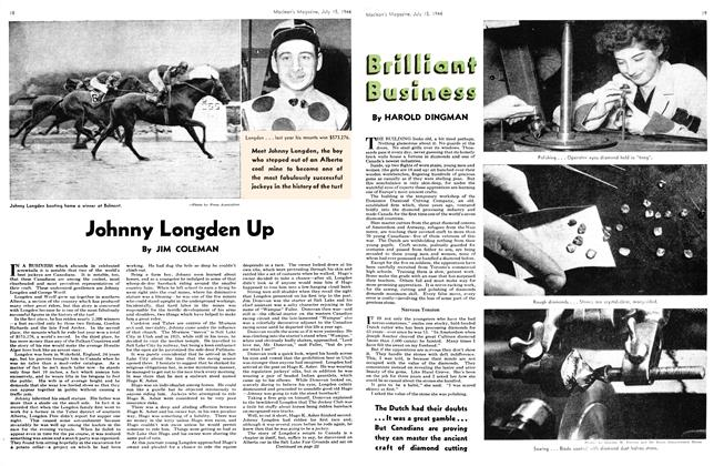 Article Preview: Johnny Longden Up, July 1944 | Maclean's
