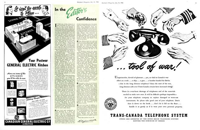 Article Preview: In the Editor's Confidence, July 1944 | Maclean's