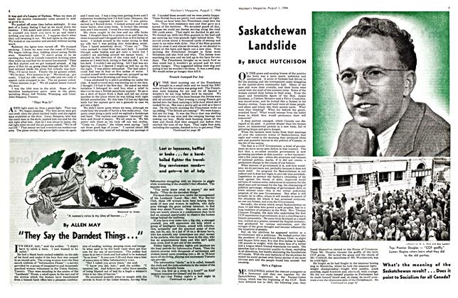 Article Preview: Saskatchewan Landslide, August 1944 | Maclean's