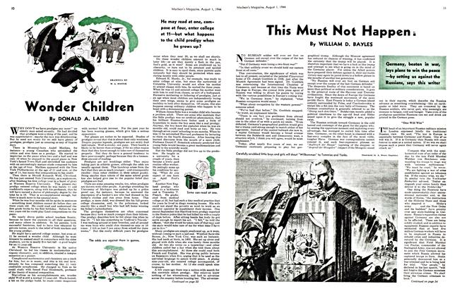 Article Preview: Wonder Children, August 1944 | Maclean's