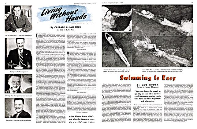 Article Preview: Living Without Hands, August 1944 | Maclean's