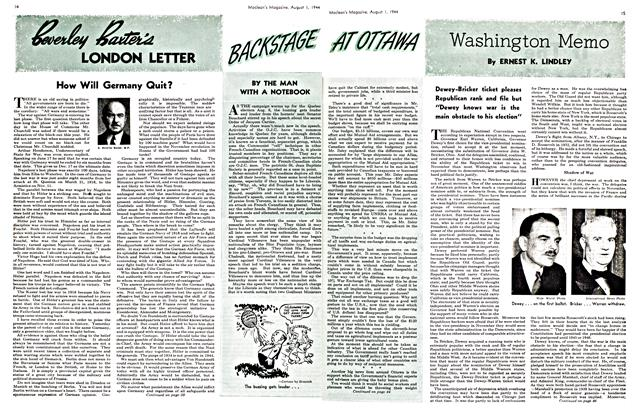Article Preview: Washington Memo, August 1944 | Maclean's