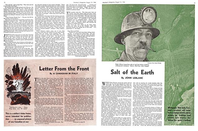 Article Preview: Letter From the Front, August 1944 | Maclean's