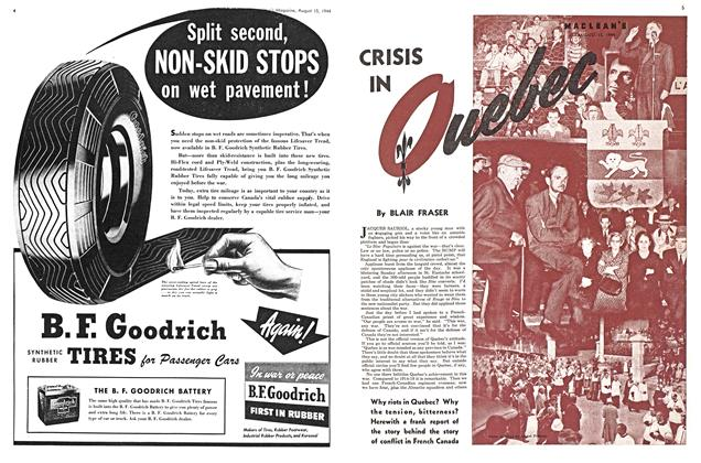 Article Preview: CRISIS IN Quebec, August 1944 | Maclean's