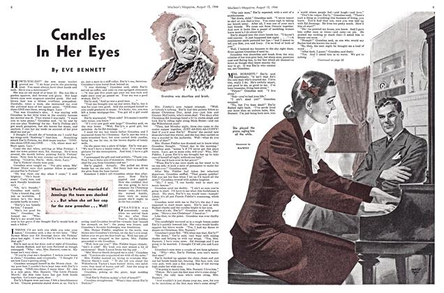 Article Preview: Candles In Her Eyes, August 1944 | Maclean's