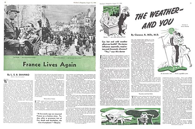 Article Preview: THE WEATHER AND YOU, August 1944 | Maclean's