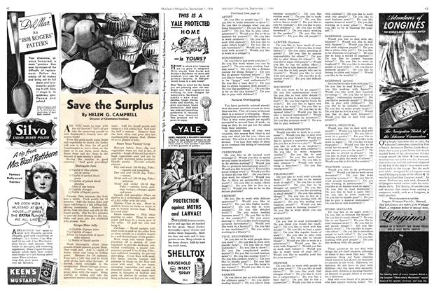 Article Preview: Save the Surplus, September 1944 | Maclean's
