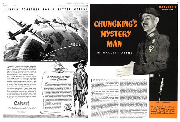 Article Preview: CHUNGKING'S MYSTERY MAN, September 1944 | Maclean's