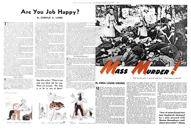 Article Preview: MASS MURDER!, September 1944 | Maclean's