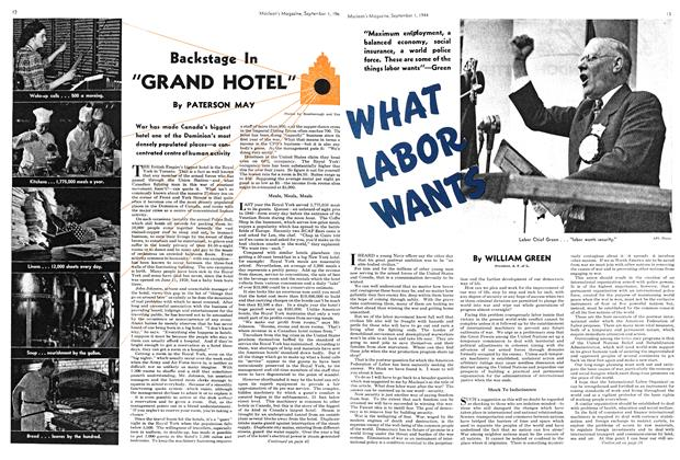 "Article Preview: Backstage In ""GRAND HOTEL"", September 1944 