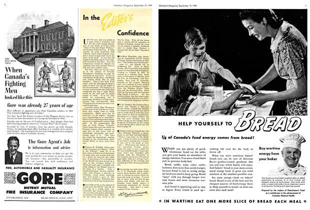 Article Preview: In the Editor's Confidence, SEPTEMBER 15,1944 1944 | Maclean's
