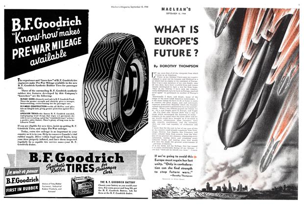 Article Preview: WHAT IS EUROPE'S FUTURE?, SEPTEMBER 15,1944 1944 | Maclean's
