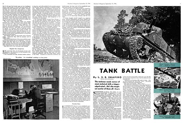 Article Preview: TANK BATTLE, SEPTEMBER 15,1944 1944 | Maclean's