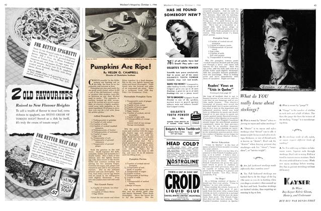 Article Preview: Pumpkins Are Ripe!, October 1944 | Maclean's