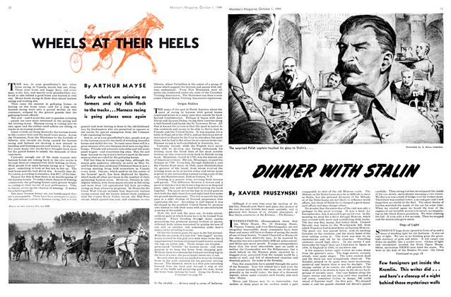 Article Preview: WHEELS AT THEIR HEELS, October 1944 | Maclean's
