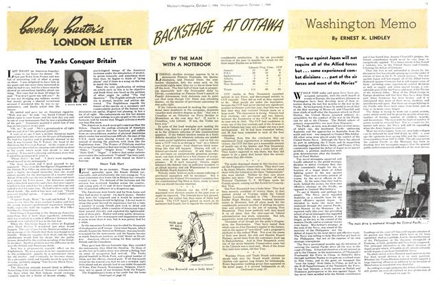 Article Preview: Washington Memo, October 1944 | Maclean's