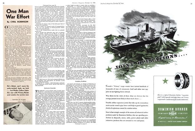 Article Preview: One Man War Effort, October 1944 | Maclean's